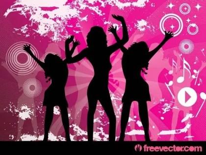 Disco Girls Free Vector