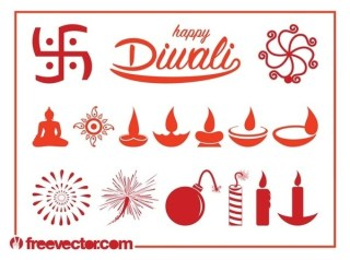 Diwali Set Free Vector