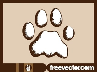Dog Paw Free Vector
