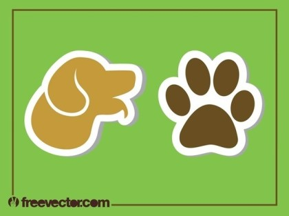 Dog Stickers Free Vector