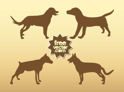 Dogs Free Vector