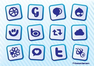 Download Social Media Icons Free Vector