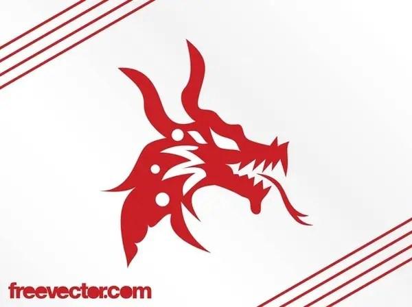 Dragon Head Free Vector