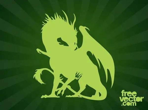 Dragon Silhouette Free Vector