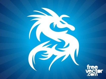 Dragon Silhouette Tattoo Free Vector