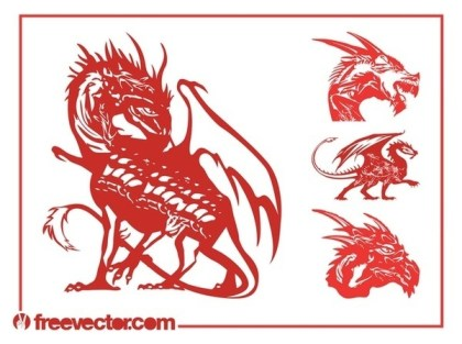 Dragons Set Free Vector