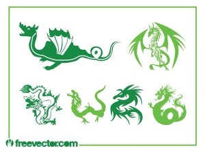 Dragons Set Free Vector