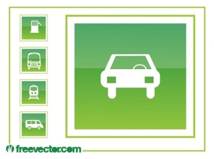 Driving Icons Free Vector
