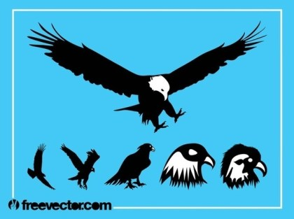 Eagles Silhouette Free Vector