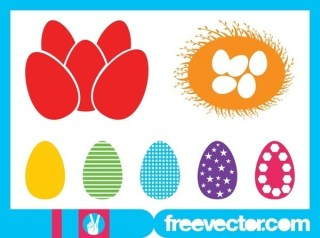 Easter Eggs Silhouettes Free Vector