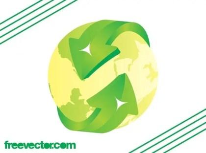 Eco Globe Free Vector
