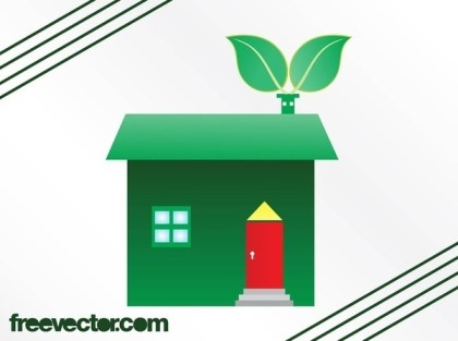 Eco House Free Vector