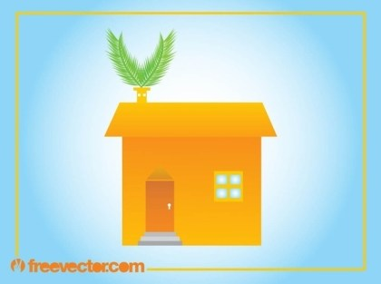 Eco House Image Free Vector