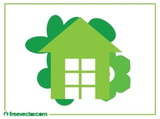 Eco House Logo Free Vector