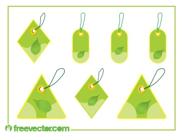 Eco Price Tags Set Free Vector