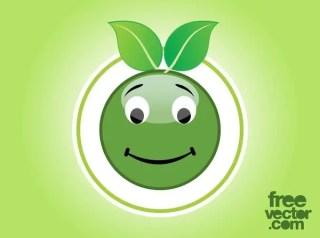 Eco Smiley Free Vector
