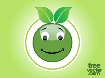 Eco Smiley Free Vector