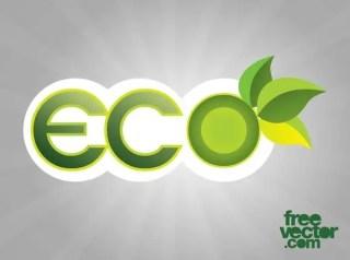 Eco Sticker Free Vector