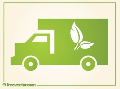 Eco Truck Free Vector
