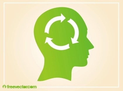 Ecological Thinking Free Vector