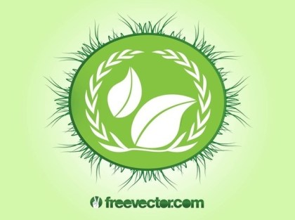 Ecology Badge Free Vector