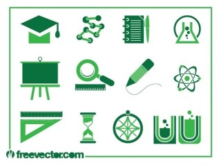 Education Icons s Free Vector