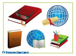 Education Set Free Vector