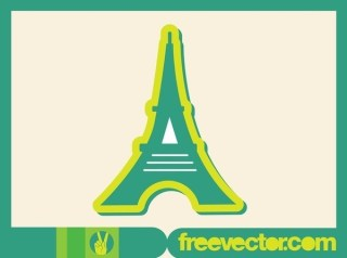 Eiffel Tower Icon Free Vector