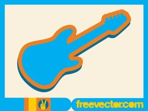 Electric Guitar Icon Free Vector