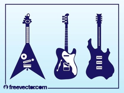 Electric Guitars Free Vector
