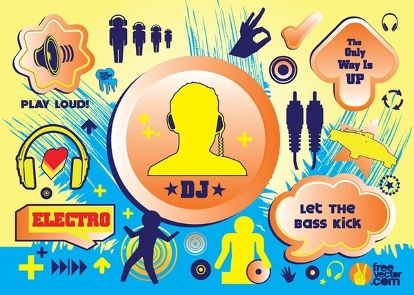 Electro Music s Free Vector