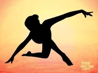 Elegant Dancer Silhouette Free Vector