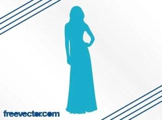 Elegant Woman Silhouette Free Vector