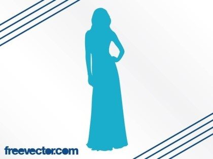 Elegant Woman Silhouette Free Vector