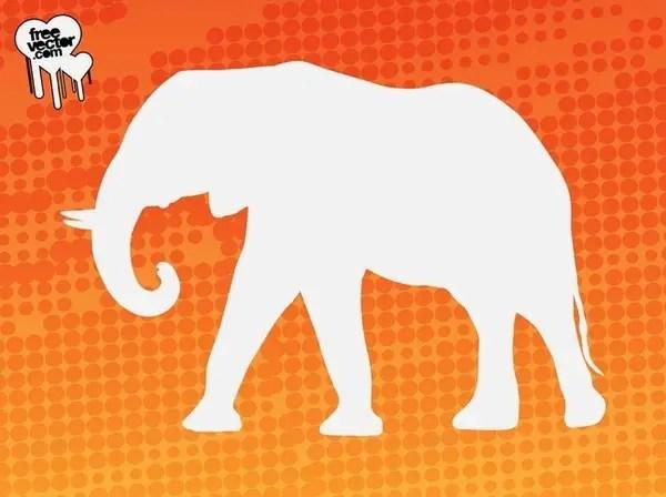 Elephant Silhouette Free Vector