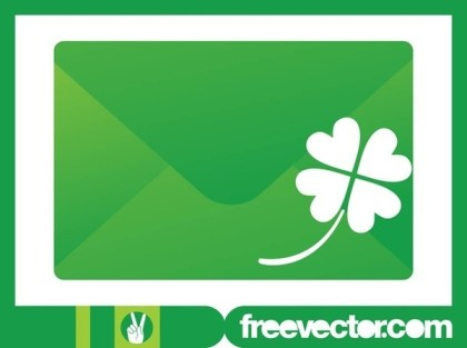 Envelope and Clover Free Vector