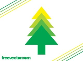 Evergreen Tree Icon Free Vector