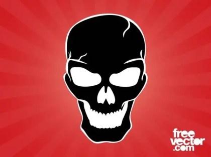 Evil Skull Free Vector