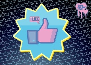 Facebook Like Button Free Vector
