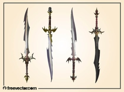 Fantasy Swords Free Vector