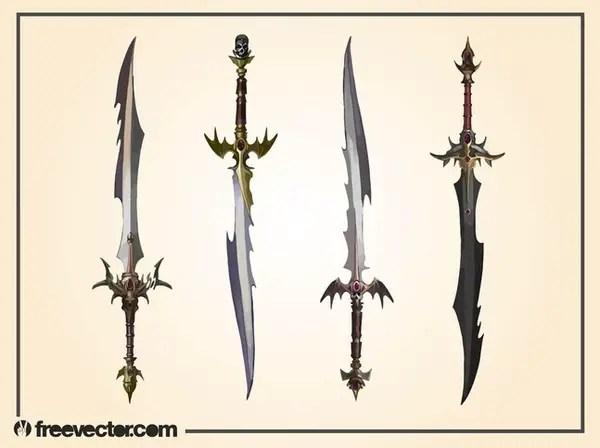 Fantasy Swords Free Vector