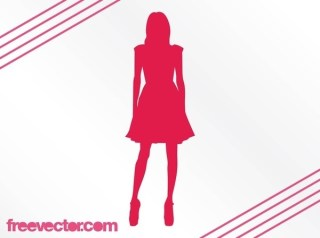 Fashion Girl Silhouette Free Vector