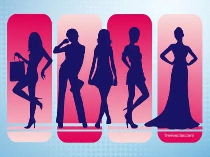 Fashion Silhouettes Free Vector