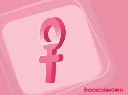 Female Gender Symbol Free Vector