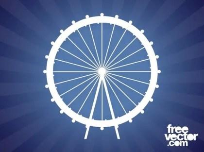 Ferris Wheel Silhouette Free Vector