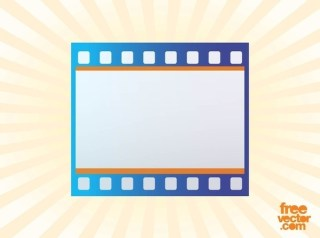 Film Strip Icon Free Vector