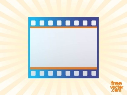 Film Strip Icon Free Vector