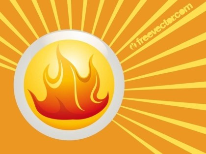 Fire Badge Free Vector