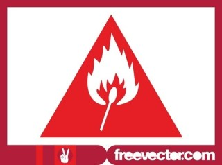 Fire Hazard Warning Sign Free Vector