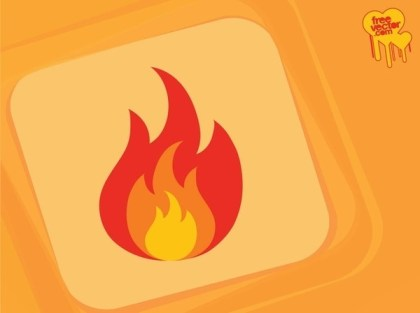 Fire Icon Free Vector